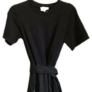 3.1 PHILLIP LIM Black Belted Hankerchief Shirt Dre